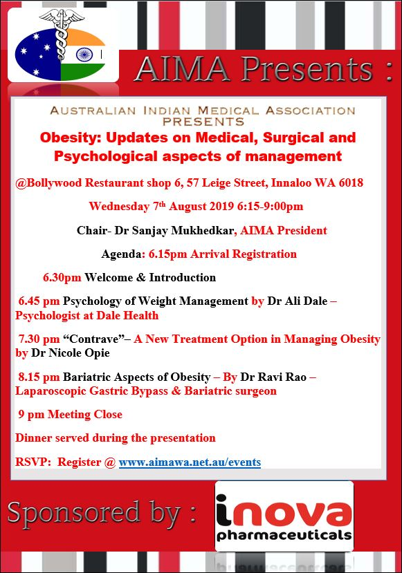 AIMA Educational Event – Obesity: Updates on Medical , Surgical and Psychological aspects of Management