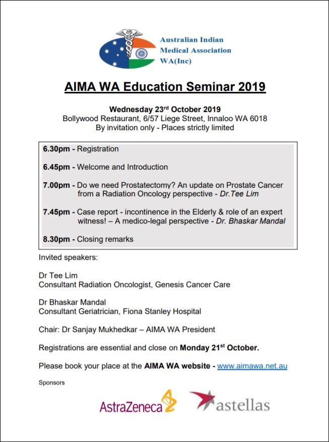 AIMA Educational Event October 2019