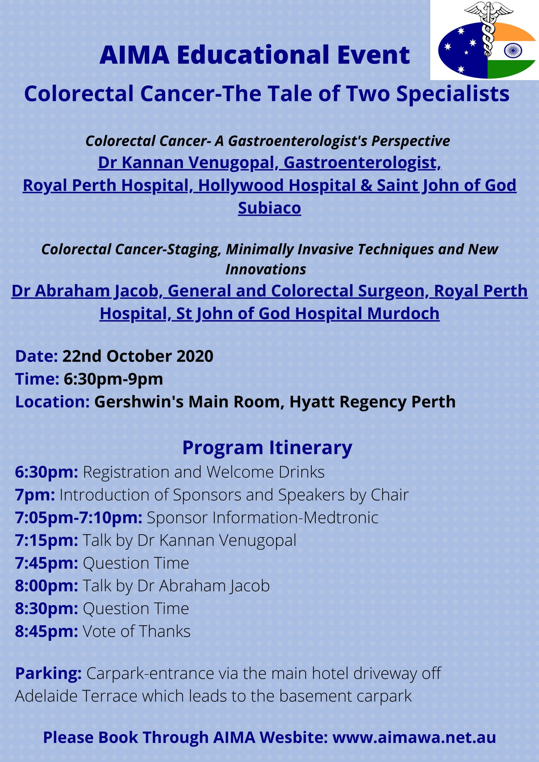 AIMA Educational Event  <strong>Colorectal Cancer-The Tale of Two Specialists</strong>