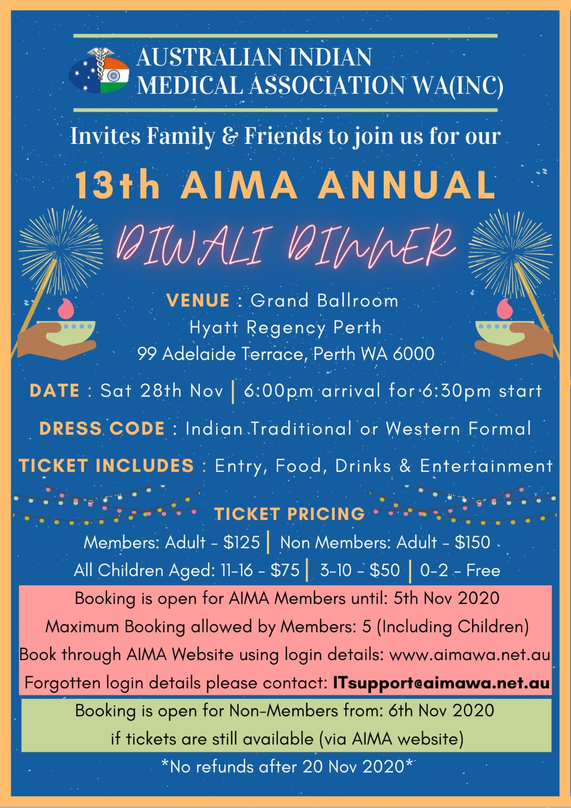 13th AIMA ANNUAL DIWALI Dinner