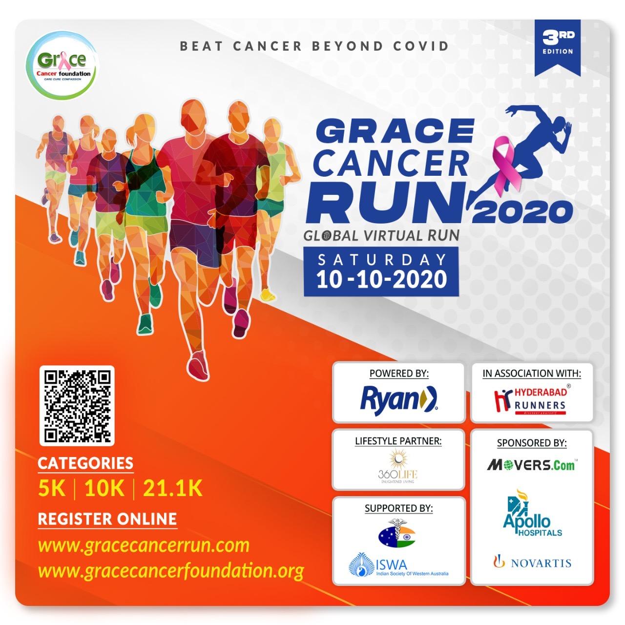 Grace Global Cancer Virtual Run on 10-10-2020