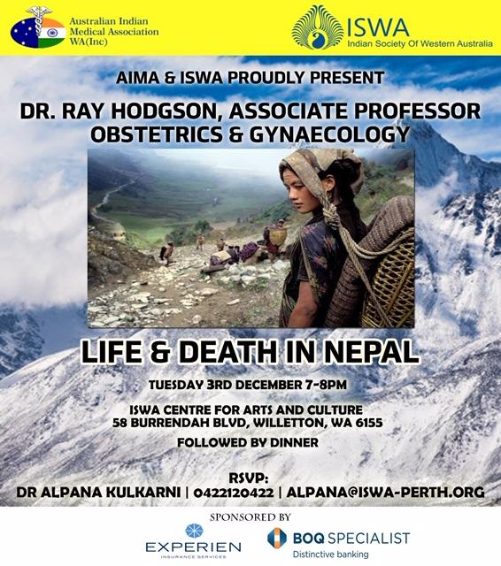 Dr Ray Hodgson- Life & Death in Nepal on 3-12-2019