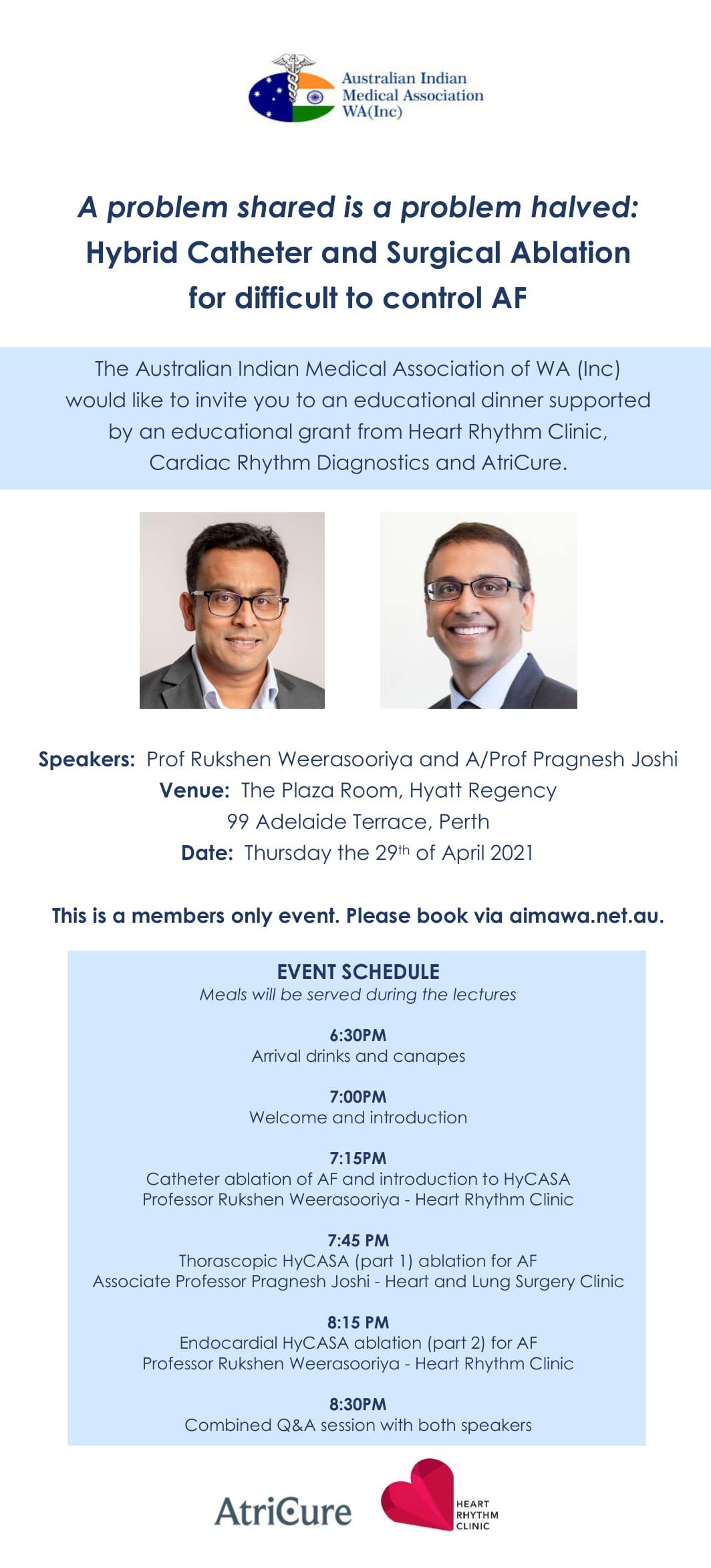 AIMA Educational Talk- Atrial Fibrillation