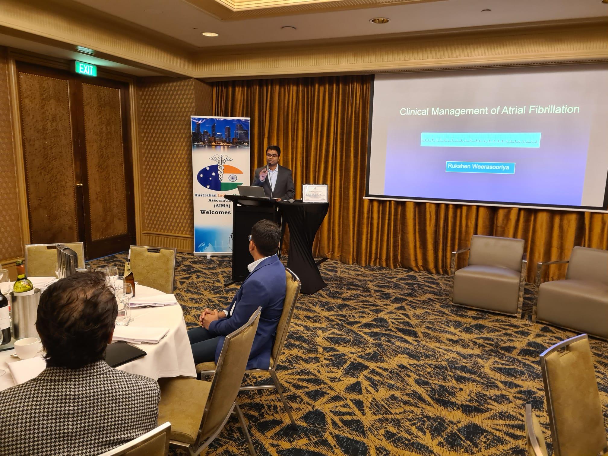 AIMA WA Educational talk Management of Atrial Fibrillations by Catheter ablation  on 17th June Hyatt Perth