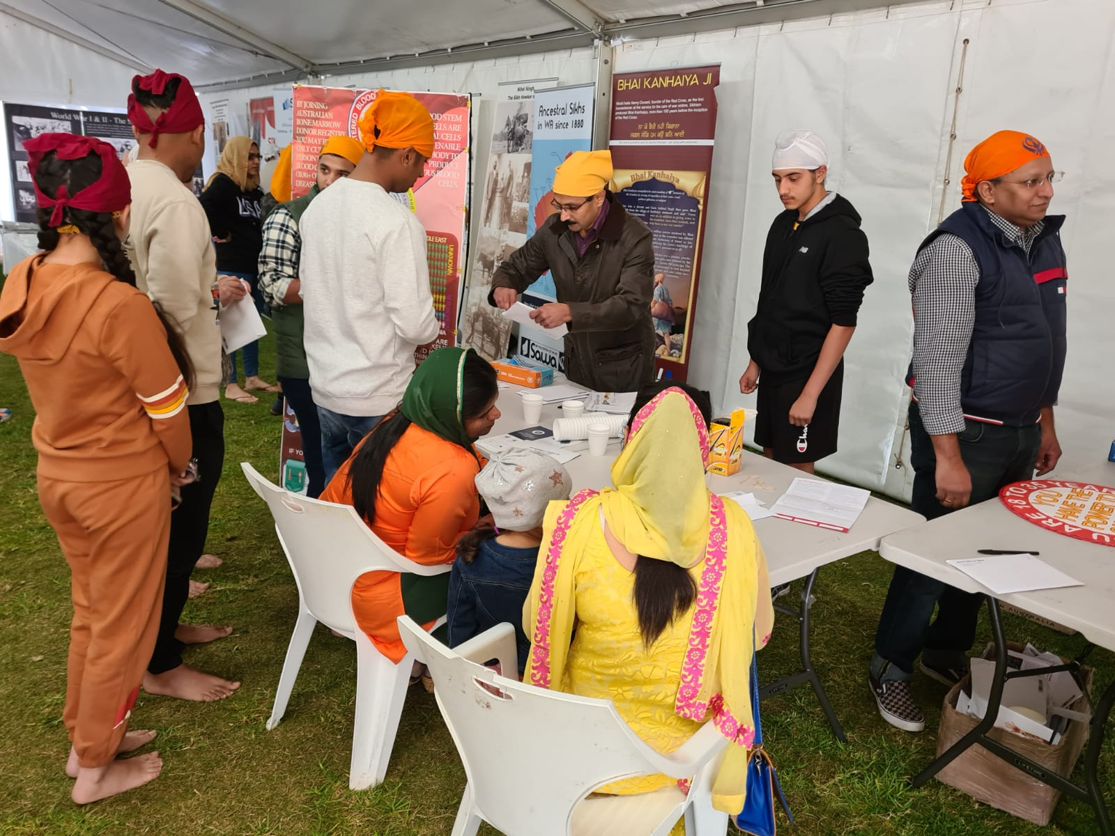 AIMA WA supported Stem cell donation registration drive Gurudwara Sahib Canning Vale Perth May 23rd 2021